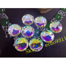 25mm Round Crystal Sew on Stones for Jewelry Accessories