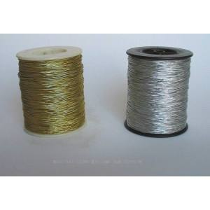 Factory provide high quality silver metallic elastic cord