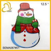 Placa de melamina de boneco de neve, placa de melamina X-mas, pratos