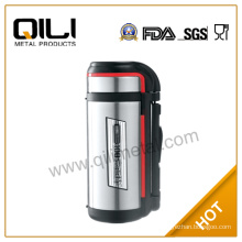 2014 new type stainless steel silver travel vacuum flask holder