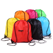 Wholesale custom private label recycled nylon large printed drawstring bag waterproof polyester drawstring bags