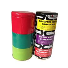 4 слоя Tin Can (упаковка конфеты, печенье, подарок) Круглый контейнер