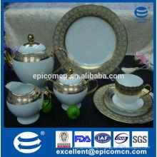 Porcelain Wholesale coffee set pakistan gold plated tea ware serving set