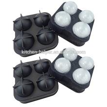 Molde de bola de hielo de silicona personalizado molde de silicona de bolas de hielo de bolas de silicona durable