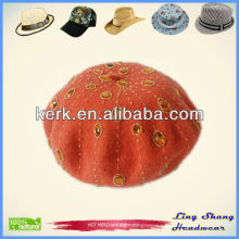 New Fashion Sewing Bead Beret Hat