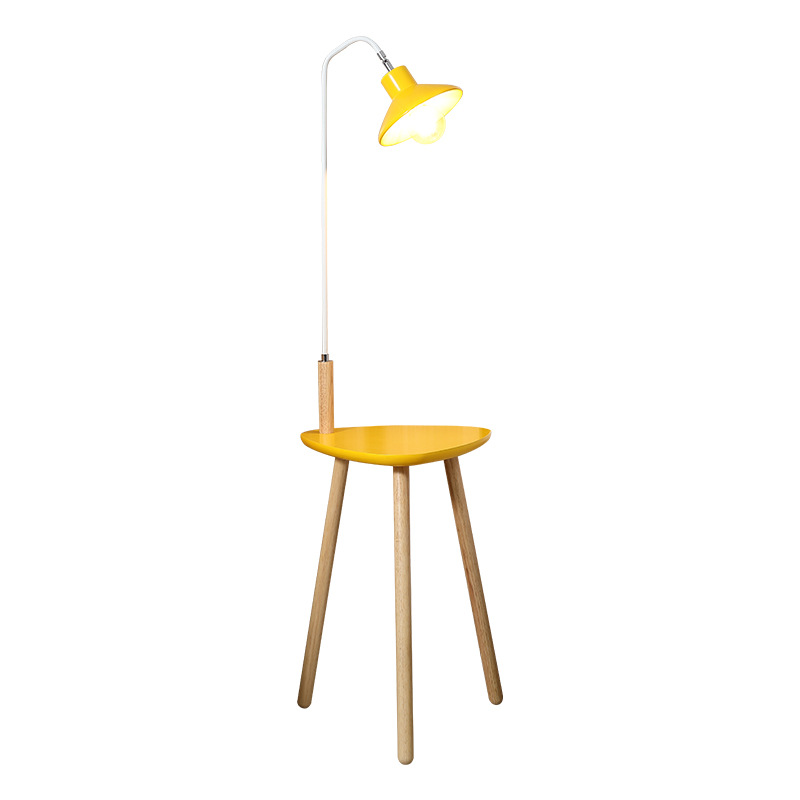 Yellow Wooden Reading Lamp