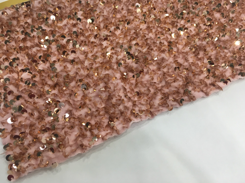 Sequin Velvet Embroidery Fabric