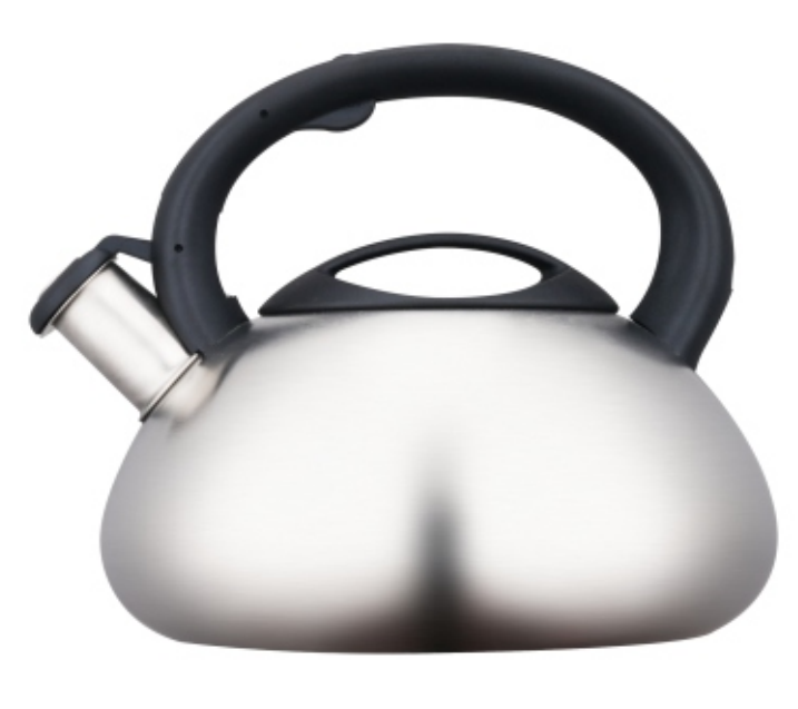 2.5L Stainless Steel Whistling Teakettle with satin polished