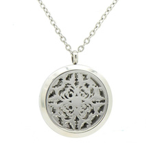 New arrival stainless steel aromatherapy engraved solid perfume compacts locket