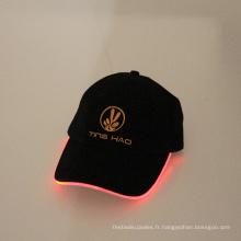 ventes chaudes a mené la lumière de casquette de baseball conduit de lumière de haute qualité baseball cap
