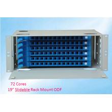 19 Inch 72 Cores Slidable Rack Mount Optical Distribution Frame