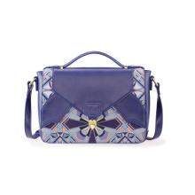 Unique Patch Design PU Satchel Bag Ladies Messenger Handbag Wzx1020