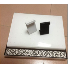 Cuir en PU Coulé Z Shape Jewelry Metal Earring Stand