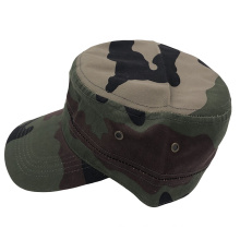 China factory cheap custom logo adjustable flat top camouflage military Cotton sports mens Army caps and Hats