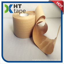 Water Activated Kraft Paper Gummed Tape with Polyester for Packing