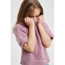 Hot Sale Girl's Half Sleeve Cashmere Sweater