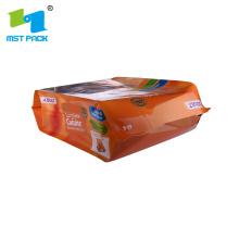 Bolsa de almacenamiento de alimentos para mascotas congelados con cremallera superior