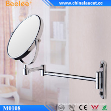 8′′ Round Brass Mirror Retractable Double Side Wall Mirror