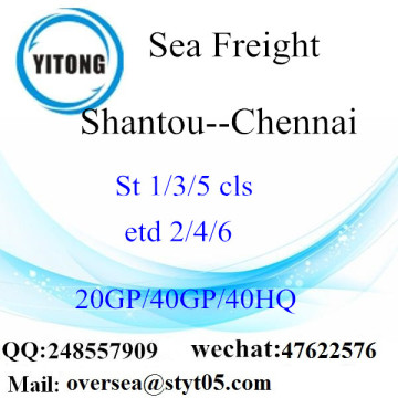 Shantou Port Sea Freight Shipping ke Chennai