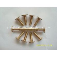 Plating gold countersunk flat big head metal screw for sale