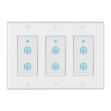 3 Gangs Home Remote Control Wireless Controller USA Wall Switch Smart Life APP Controller Touch Smart Switches WiFi