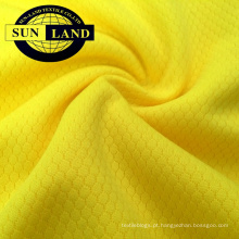 100% poliéster malha dri fit hexágono padrão de malha de tecido 100% poliéster malha dri fit hexágono padrão de malha de tecido