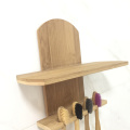Wall Mounted Bamboo Toothbrush Holder