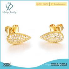 Hot sale 2015 Fashion Jewelry Gold Plating women Earrings Stud