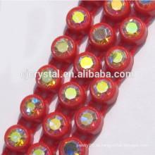 Großhandelseinreihenplastikbanding Rhinestonebesatz, Diamantrhinestoneband für das Dekorieren