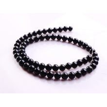 6MM Natural Black Obsidian Round Gemstone Beads 16""