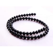 4MM Black Obsidian Semi precious stone Beads