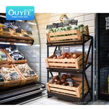 Good Quality Shopping Shelf Gondola Wooden Accersories For Supermarket Hook Fruit Vegetable Display Rack Supermarket Shelves