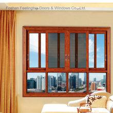 Ventana corrediza de marco de aluminio con ventana de pantalla (FT-W132)