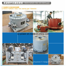 Crémaillère de direction à palettes rotatives électriques