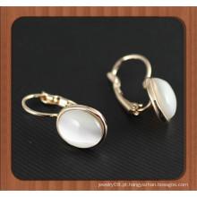 Último design oval opala brinco pequena argola