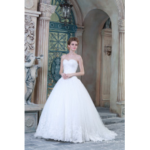 ED Bridal A-line Sweetheart Tulle Bride Gown Lace Applique White Wedding Dress 2017