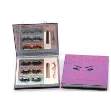 3D199H Hitomi 3d Mink Natural Eyelashes Wholsal Mink Eyelash Fluffy 25mm Magnetic Eyelashes with Eyeliner and tweezers