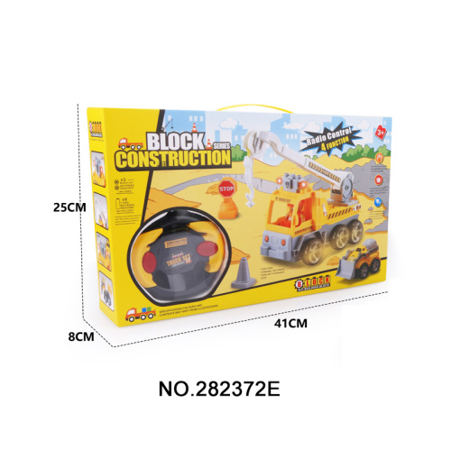 4 CH Assemble R / C Engineering Car Toy