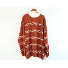 Suéter de lã de cashmere feminino de malha