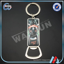 high quality metal bottle opener keychain custom