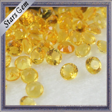 Piedras preciosas de forma redonda amarilla