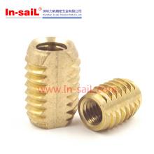 Écrou d'insertion de filetage interne et externe