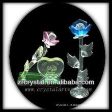 K9 rosa e flor de cristal azul
