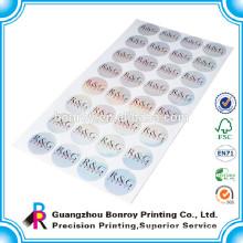 Custom glossy artpaper shiny round sticker printing