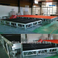 La poutre de treillis de toit plat modulaire de fournisseur de Changhaï a suspendu la botte d'étape carrée d'affichage d'affichage