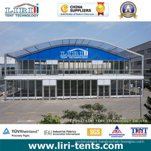 20m Double Decker Two Floors Tent with Glass Side Walls