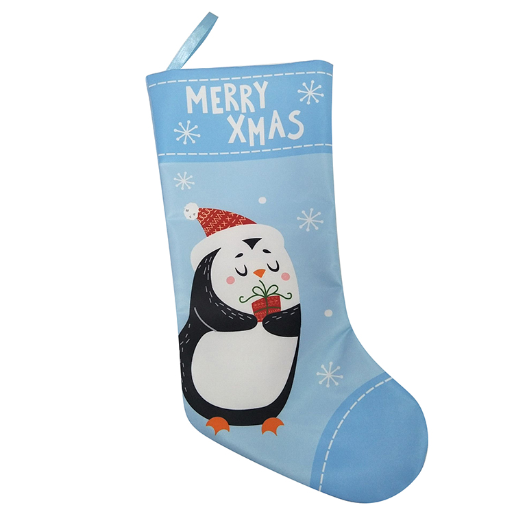 Penguin Pattern Christmas Stocking