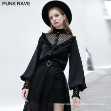 PUNK RAVE OPY-460CCF girls gothic series casual women vintage blouse loose long sleeve shirt