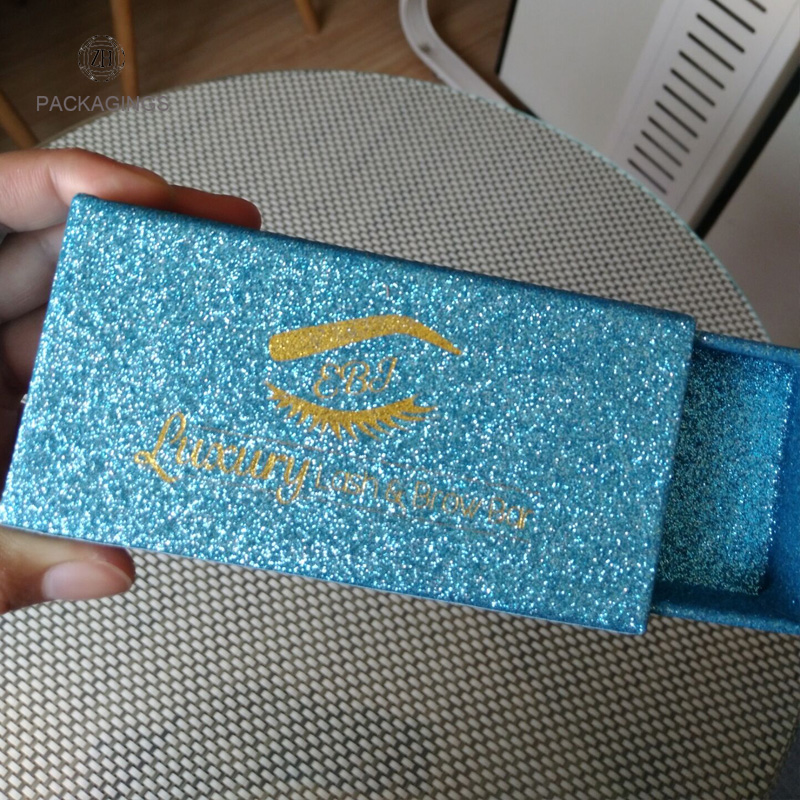 Custom false eyelash packaging box