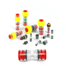 Clear body Fiber Optic Outside Diameter Micro Duct Coupler,plastic air duct connector